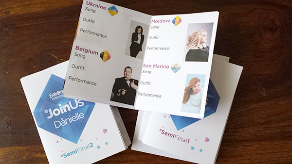 Eurovision Semifinals Judging Booklets