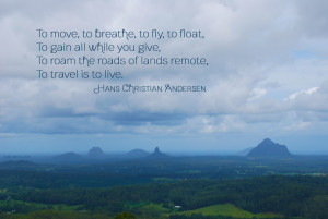 To Travel is to Live quote by Hans Christian Andersen - photo by lostcarrot.com