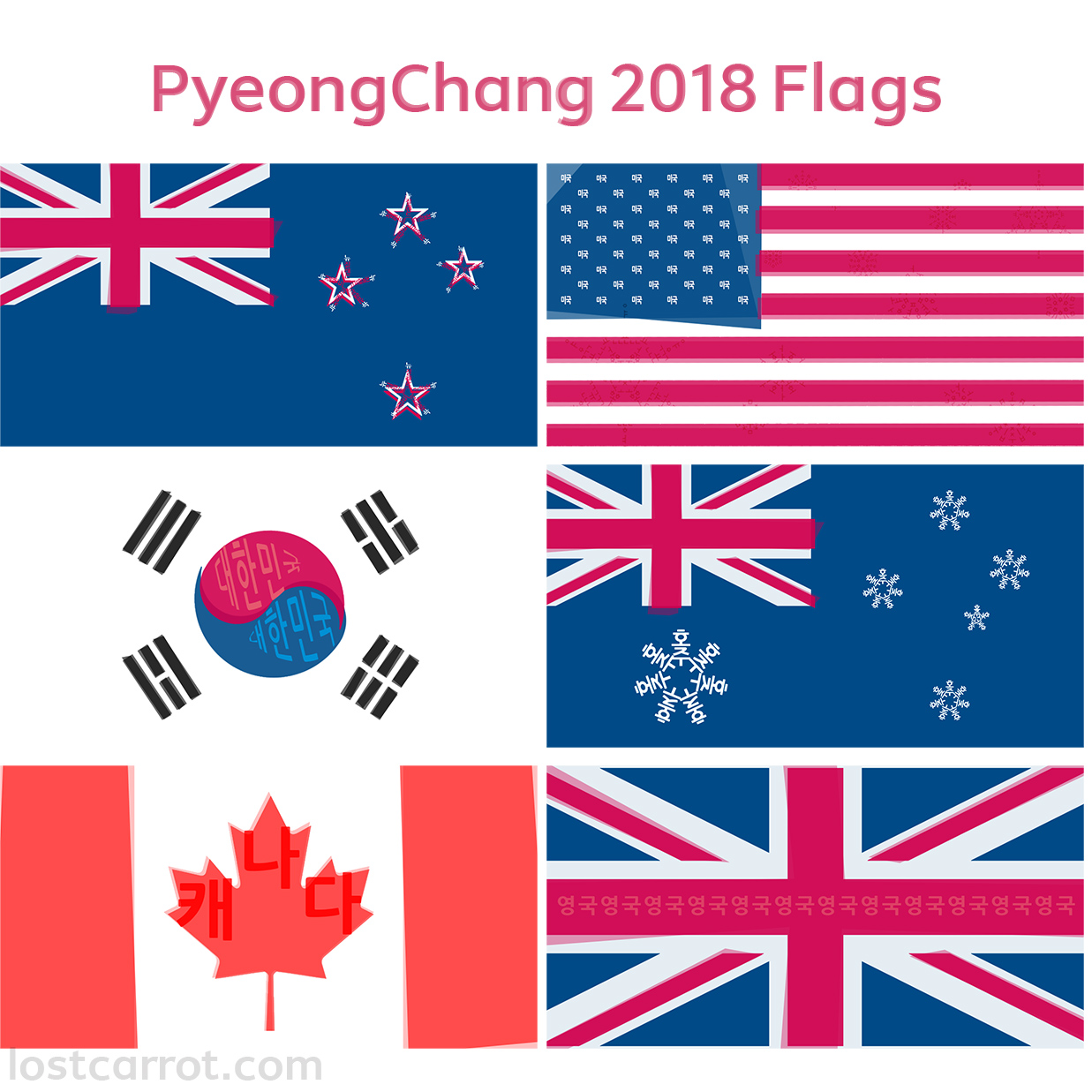 photograph about Printable Country Flags identify PyeongChang 2018 Impressed Flag Printables Misplaced Carrot